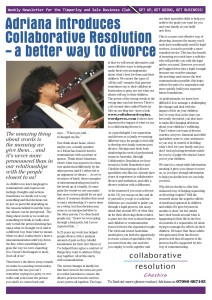 Adriana talking about divorce to Trafford businesses
